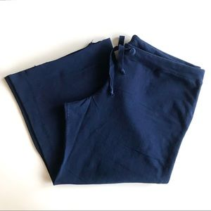 🆕 NWT Michael Stars Navy Cropped Drawstring Pants